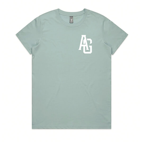 Tee Womens Pale Blue & Natural